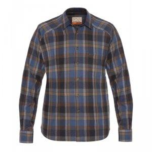 Рубашка Graff с длинным руквом (хлопок, клетка) 834-KO-1