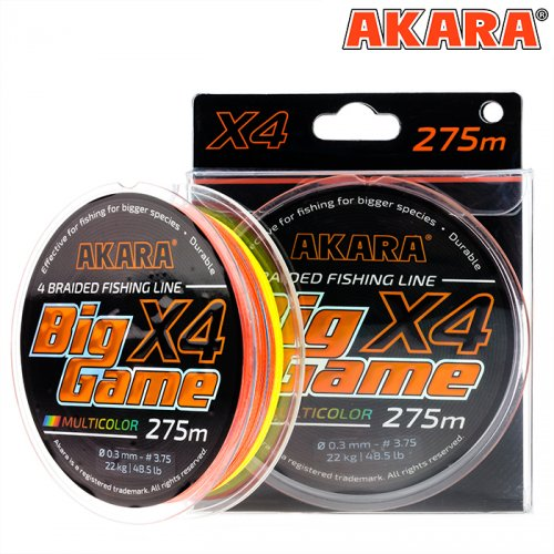 Шнур Akara Big Game Multicolor 275 м