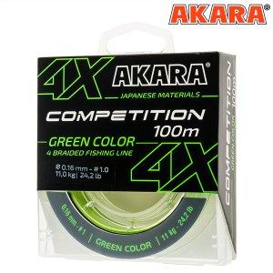 Шнур Akara Competition Green 100 м
