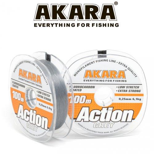 Леска Akara Action Grey 100 м