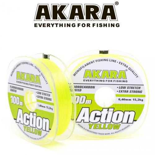 Леска Akara Action Yellow 100 м