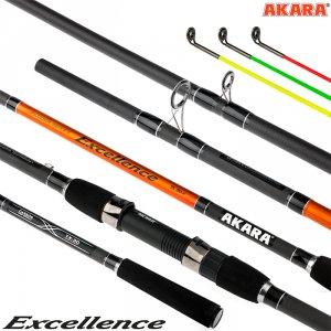 Удилище штекерное угольное фидерное 3 колена Akara Excellence Feeder TX-30 (90-120-150)