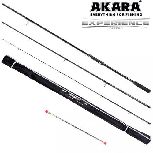 Удилище штекерное угольное фидерное 3 колена Akara Experience Feeder TX-30 (50-100-150)