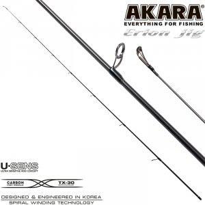 Хлыст угольный для спиннинга Akara Erion Jig Spin IM9 (3-12) 1,98 м