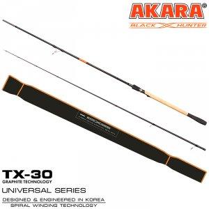 Спиннинг штекерный угольный Akara Black Hunter (28-80) XH