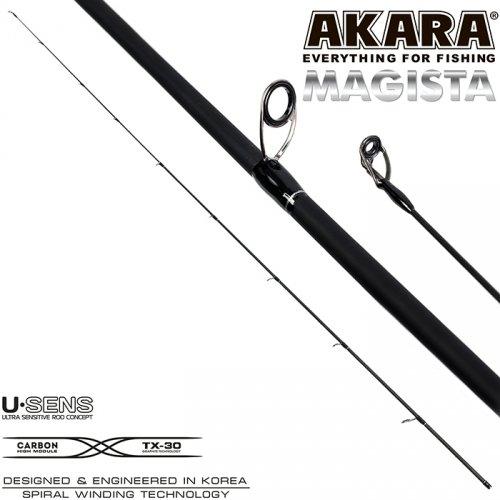 Хлыст угольный для спиннинга Akara Magista MLMF 822 TX-20 (2,8-7,0) 2,48 м