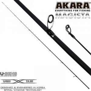 Хлыст угольный для спиннинга Akara Magista HMF 822 TX-20 (14,0-56,0) 2,48 м
