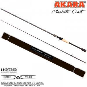 Спиннинг штекерный угольный Akara Machete Cast (8-32) M
