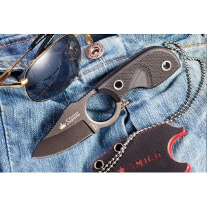 Нож Amigo-X Черный D2