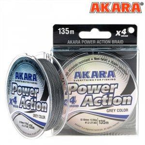 Шнур Akara Power Action Grey 135 м