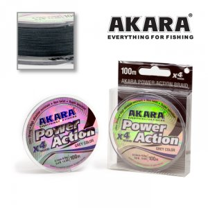 Шнур Akara Power Action X-4 Grey 100 м