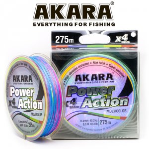 Шнур Akara Power Action X-4 Multicolor 275 м