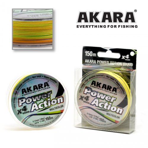 Шнур Akara Power Action X-4 Multicolor 135 м