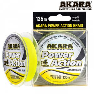 Шнур Akara Power Action X-4 Yellow 135 м