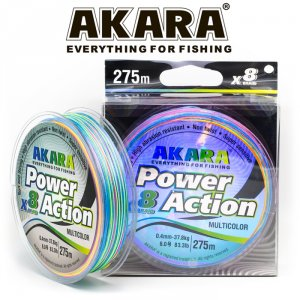Шнур Akara Power Action X-8 Multicolor 275 м