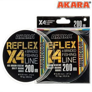 Шнур Akara Reflex Multicolor 200 м