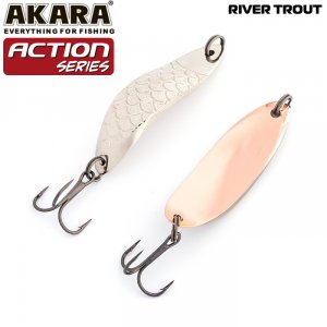 Блесна колебалка Akara Action Series River Trout