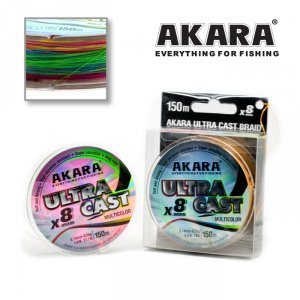 Шнур Akara Ultra Cast X-8 Multicolor 150 м