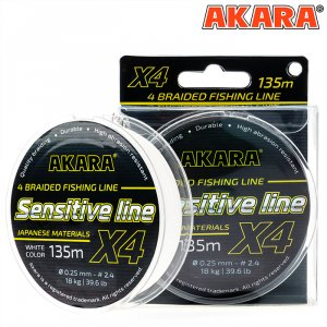 Шнур Akara Sensitive Line White 135 м