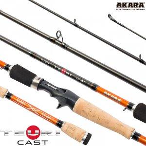 Спиннинг штекерный угольный 2 колена Akara Teuri Cast H (17,5-49)