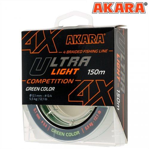 Шнур Akara Ultra Light Competition Green 150 м