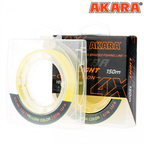 Шнур Akara Ultra Light Competition Yellow 150 м