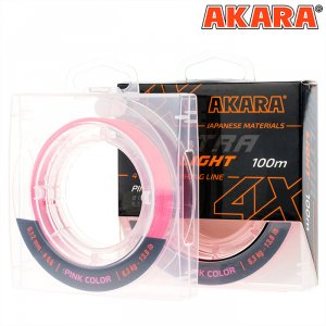 Шнур Akara Ultra Light Pink 100 м