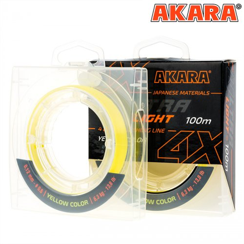 Шнур Akara Ultra Light Yellow 100 м