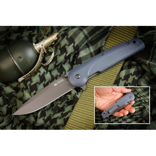 Нож Biker-Z Чёрный титан AUS8
