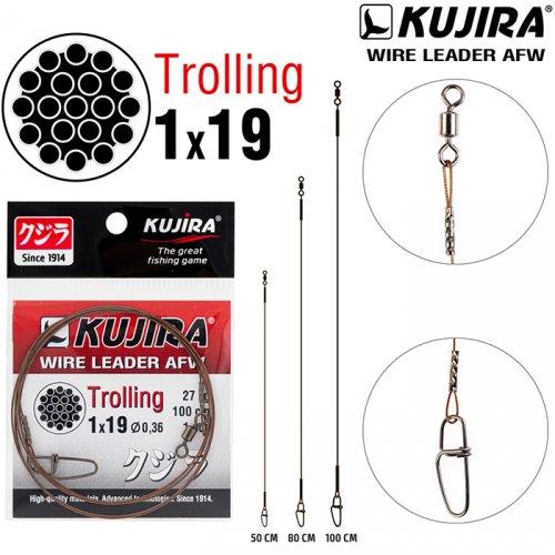 Поводок Kujira Trolling 1х19 (AFW)