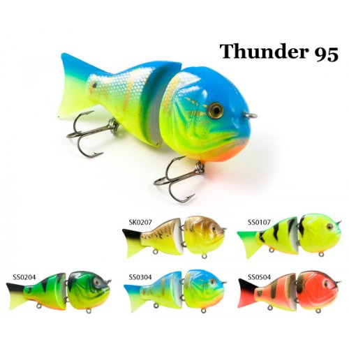 Воблер деревянный RAIDEN Thunder 95S