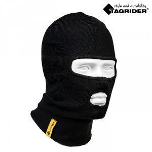 Шапка-маска Tagrider Expedition 3015 2 отверстия вязаная черная