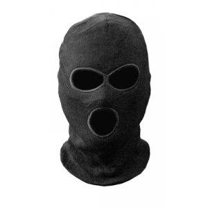 Шапка-маска TR вязан. черн. 3 отверстия