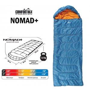 Спальник Comfortika Nomad Plus R 230х80х80 см с подголовником +10C/-10C
