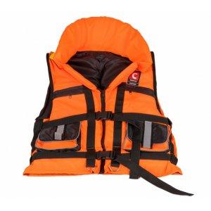 Жилет Comfort Doker спасательный с подголовником и свистком 60-140 кг (сертификат)
