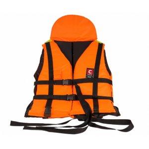 Жилет Comfort Pilot Лоцман спасательный с подголовником и свистком 80-120 кг (сертификат)