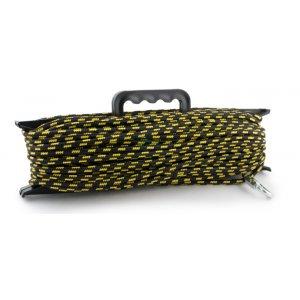 Шнур Akara якорный плетеный ПЭ с карабином на мотовиле