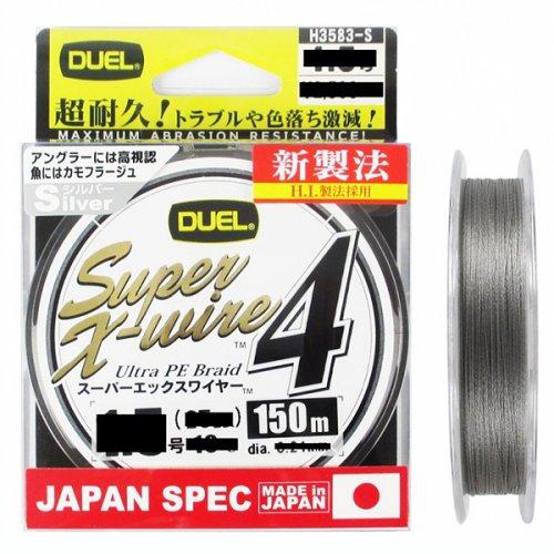 Шнур Duel PE Super X-Wire 4 Silver 150м
