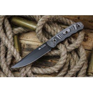 Нож Echo D2 BT (Черный, G10, Ножны кайдекс)