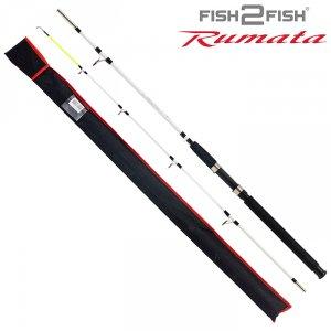 Спиннинг штекерный стекло 2 колена Fish 2 Fish Rumata (80-150)