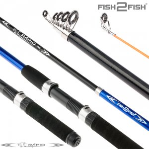 Спиннинг телескоп стекло к/с Fish2fish Rapid New (10-40) Blue