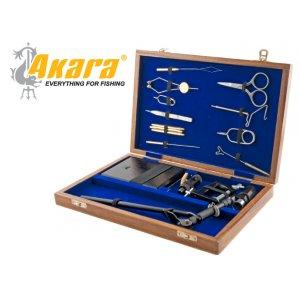 Станок для вязки мушек 7301 + набор инструментов в дер. кейсе