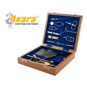 Станок для вязки мушек 7302 + набор инструментов в дер. кейсе