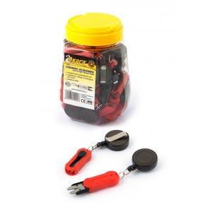 Ножницы Akara Fishing Scissors FT08 с ритривером в пласт. банке