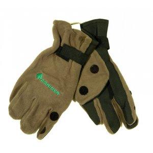 Перчатки TR 095-6 неопреновые с флисом 3 откидных пальца хаки