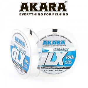 Леска Akara GLX Sea Line 100 м прозрачная