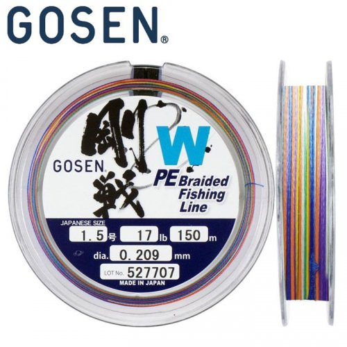 Шнур Gosen W4 braid Multi Color 150м