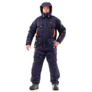 Костюм зимний Novatex Grayling Камчатка таслан синий-оранжевый -45С