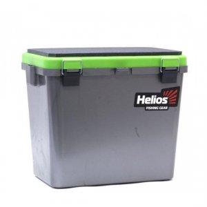 Ящик зимний Helios 19 л односекционный серый/салатовый (HS-IB-19-GG-1)