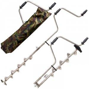 Ледобур титановый 2 ножа длин.спираль 130 мм